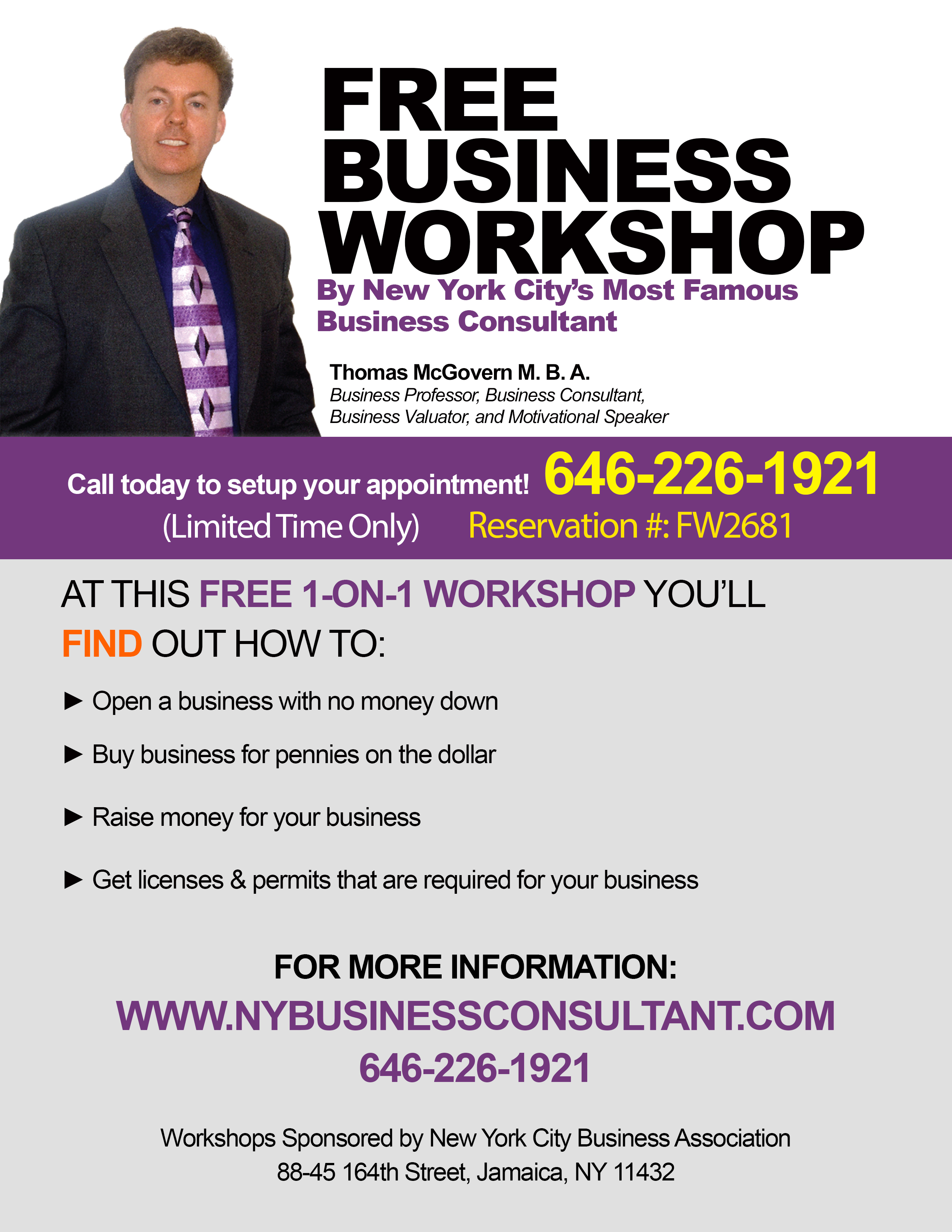 FREE 1-ON-1 BUSINESS WORKSHOP