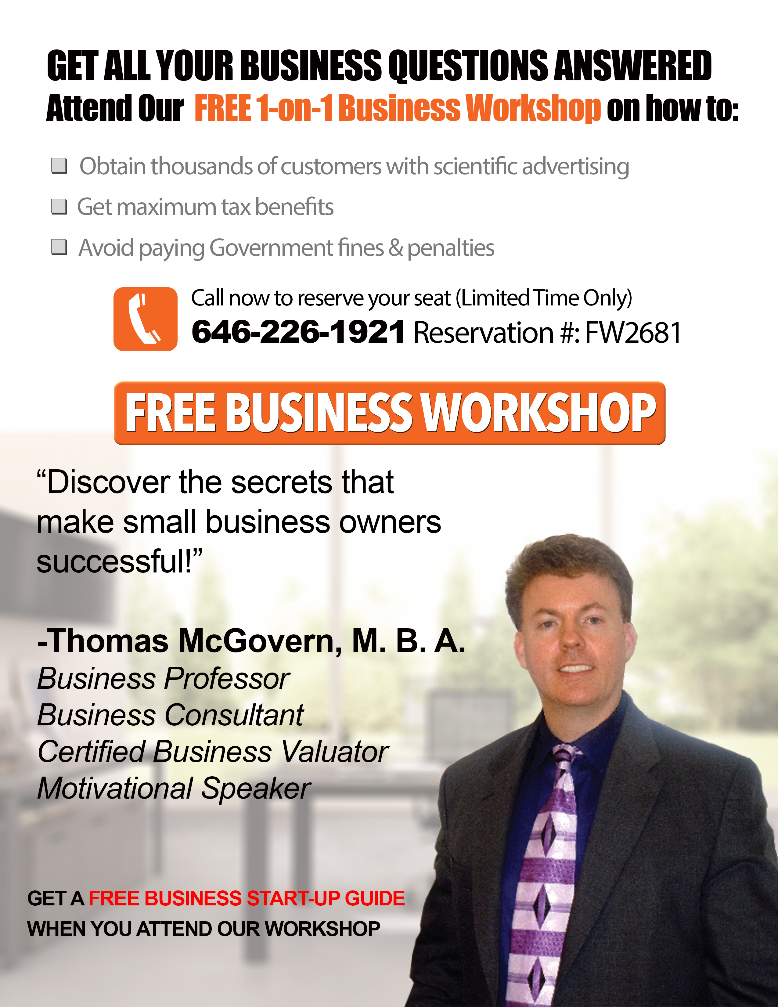 FREE 1-ON-1 BUSINESS WORKSHOP, NY BUSINESS ASSOCIATION WORKSHOP, BUSINESS WORKSHOP NY